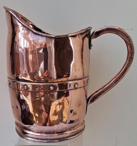 Antique English Victorian Copper Arts & Crafts Jug / Pitcher (1 of 6)