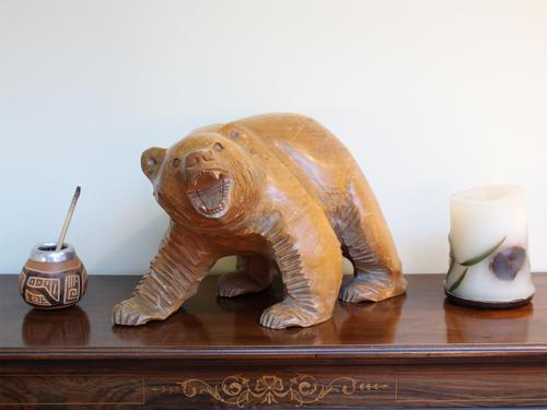 1950s Japanese Wooden Bear Sculpture (1 of 5)