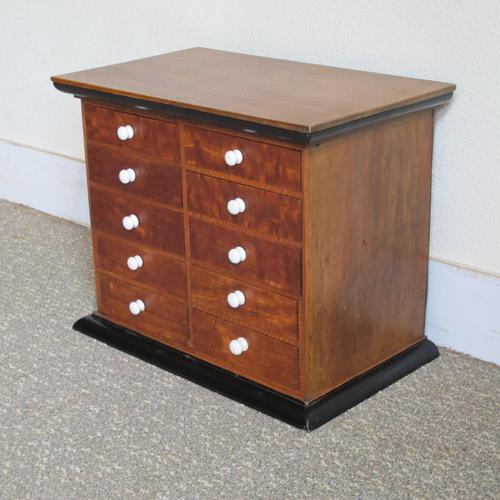 Satinwood & Walnut Victorian Collectors Chest (1 of 6)