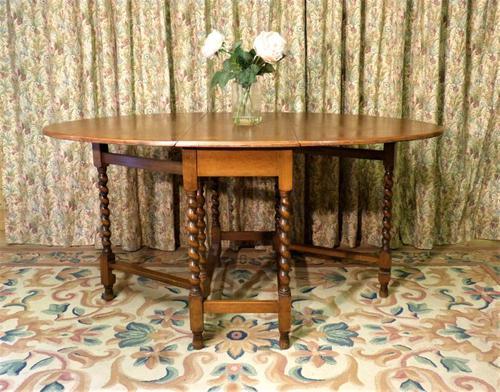 Vintage Barley Twist Gateleg Dining Table (1 of 6)