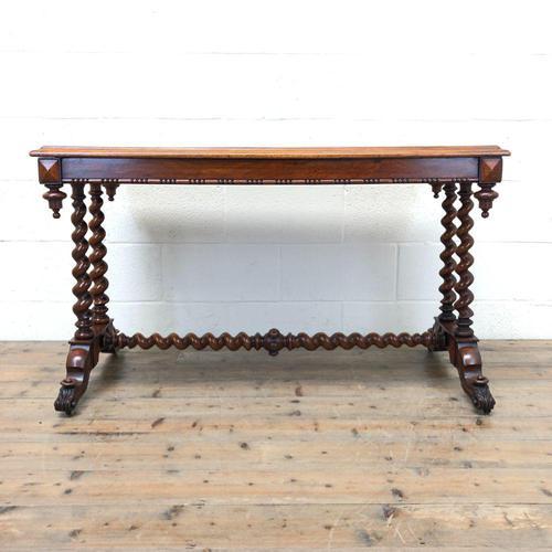 Antique Walnut Table with Barley Twist Legs (1 of 10)