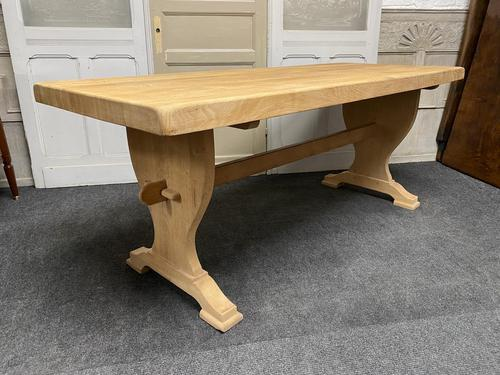 French Trestle End Refectory Farmhouse Dining Table (1 of 17)