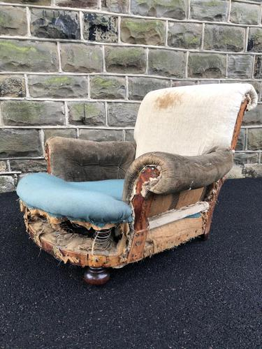 Antique English Armchair For Recovering (1 of 7)