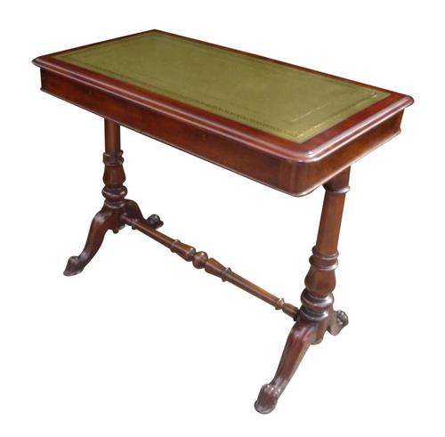 Quality 19th Century Mahogany Desk Stamped Johnstone & Jeanes (1 of 4)