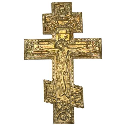 Fine Religious Russian Orthodox Ormolu Gilt Bronze Christ Cross (1 of 19)