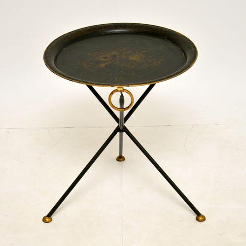 Antique Folding Tole Side Table (1 of 12)