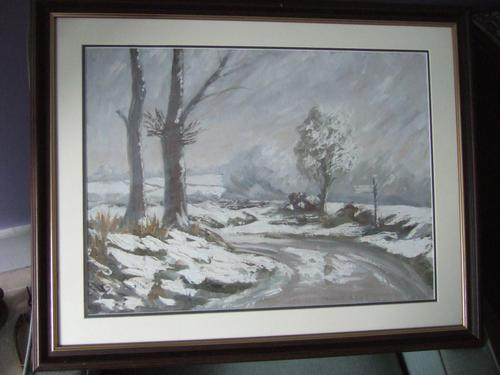 Winter Landscape - Oil on Board - Unsigned (1 of 5)