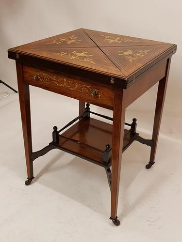 Victorian Rosewood Envelope Card Table (1 of 6)