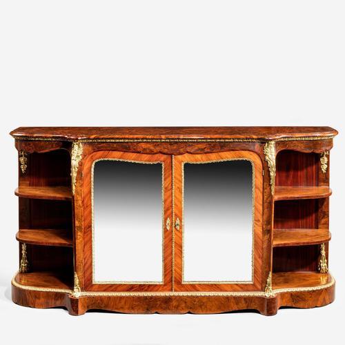 Maharajah Singhs burr walnut side cabinet (1 of 5)