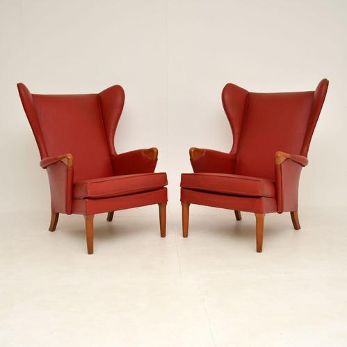 Pair of Vintage Parker Knoll Wing Back Armchairs (1 of 12)