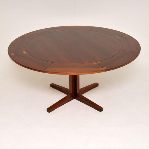 1960's Danish Rosewood Flip Flap Lotus Dining Table by Dyrlund (1 of 11)