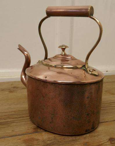 Charming 19th Century Oval Copper Kettle (1 of 5)