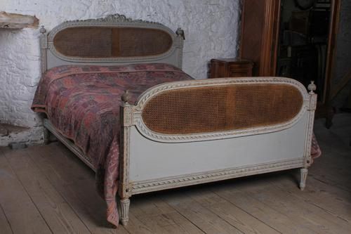 Fabulous Carved & Caned King Size French Bed (1 of 11)