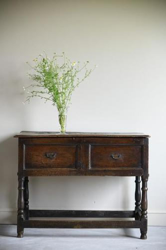 Antique Rustic 18th Century Oak Side Table (1 of 11)