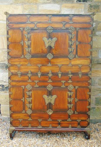 Chinese Elm Marriage Cabinet Circa 1900 (1 of 12)