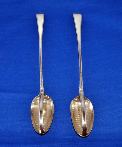 Pair of Georgian Silver Straining Spoons (1 of 4)