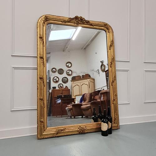 Antique French Gilded Flower Mirror (1 of 8)