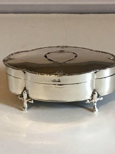 Antique Solid Silver Trinket Box Hallmarked Birmingham 1938 (1 of 12)