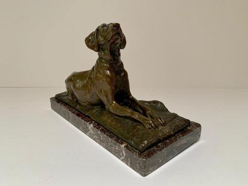 19th Century Bronze Figure of a Hound on a Rug (1 of 4)