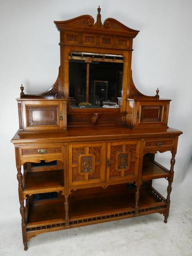 English 19th Century Walnut & Amboyna Cabinet (1 of 11)