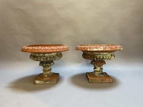 Pair of Terracotta Campana Garden Urns (1 of 13)