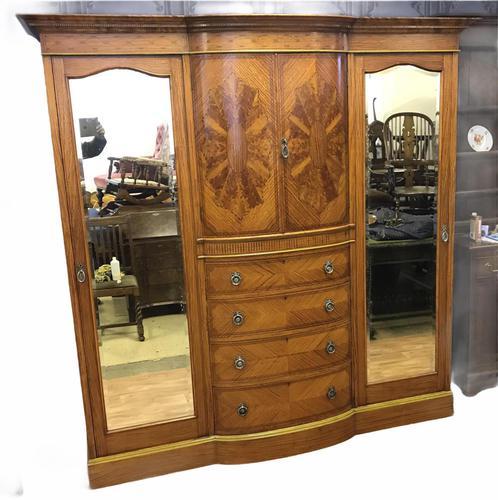 Edwardian Inlaid Satinwood Wardrobe (1 of 30)