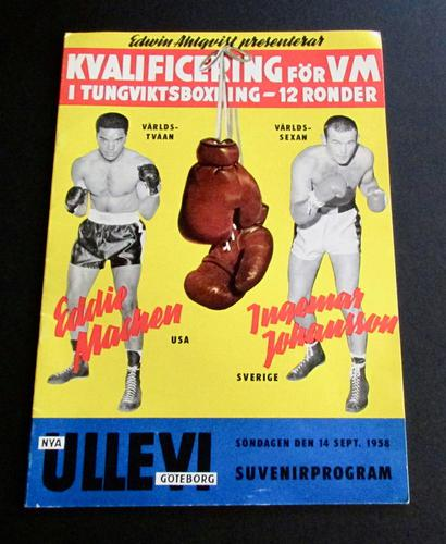 1958 Boxing Programme  For Eddie Machen Vs Ingemar Johansson September 14th Sweden (1 of 4)