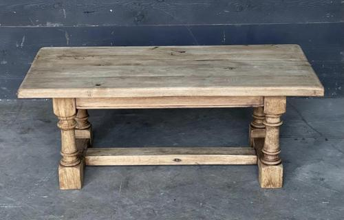 French Bleached Oak Coffee Table (1 of 11)
