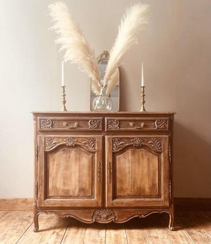 French Antique Rustic Cupboard / Normandy Buffet / Oak Sideboard (1 of 5)