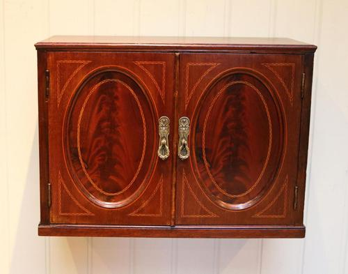 Edwardian Mahogany Wall Cabinet (1 of 7)