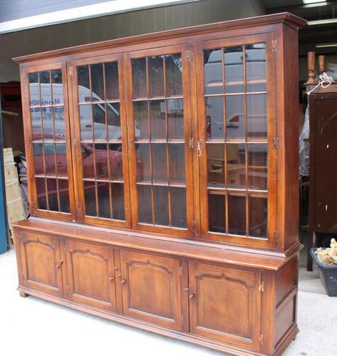 1920s Large 4 Door Oak Bookcase (1 of 4)