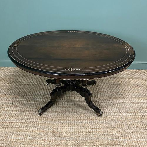 Stunning Victorian Oval Antique Dining Table (1 of 9)