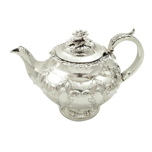 Antique Victorian Sterling Silver Teapot 1855 (1 of 9)