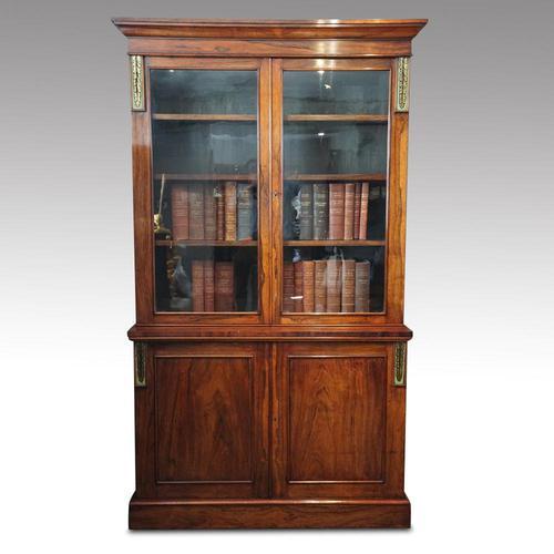 William IV Rosewood Cupboard Bookcase (1 of 9)
