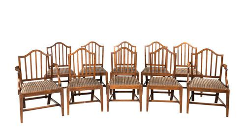 Set of Ten George III Period Mahogany Chairs (1 of 7)