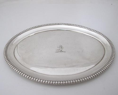 Gorgeous Georgian silver small card tray the Batemans London 1804 (1 of 6)