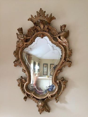 Fine English 18th Century Antique Gilt Mirror Pier Glass (1 of 10)