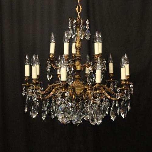 Italian Gilded 15 Light Antique Chandelier (1 of 10)