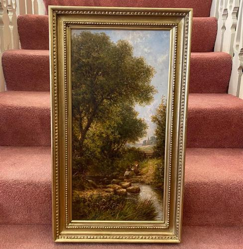 Good Gilt Framed Oil on Canvas Painting by Henry Maidment (1 of 6)