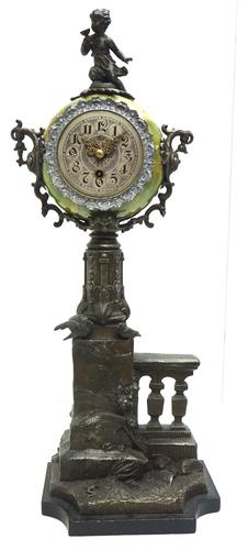 Very Rare Lenzkirch Mantel Clock 66cm High 8 Day German Mantle Clock (1 of 12)