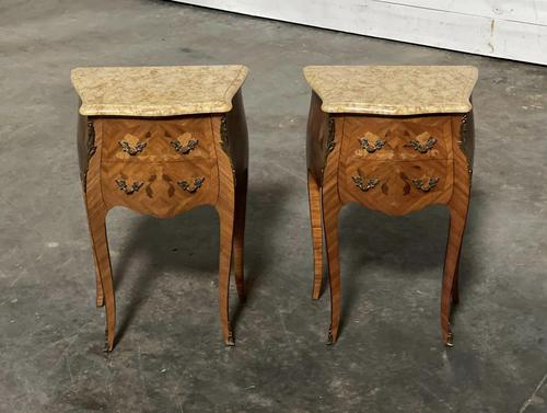 Quality Pair of French Marquetry Bedside Drawers (1 of 22)
