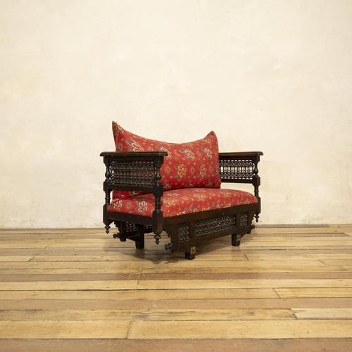 Early 20th Century Moorish Rosewood Window Seat - Bench (1 of 11)