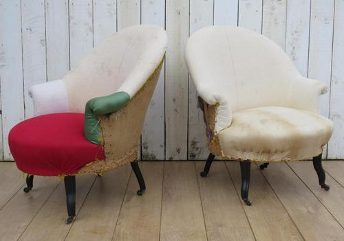 Pair of Antique Napoleon III Armchairs for re-upholstery (1 of 9)