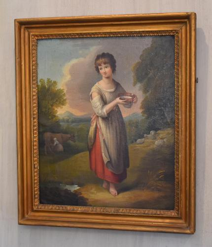 Superb Georgian Oil Painting 'Lavinia' After Gainsborough (1 of 5)