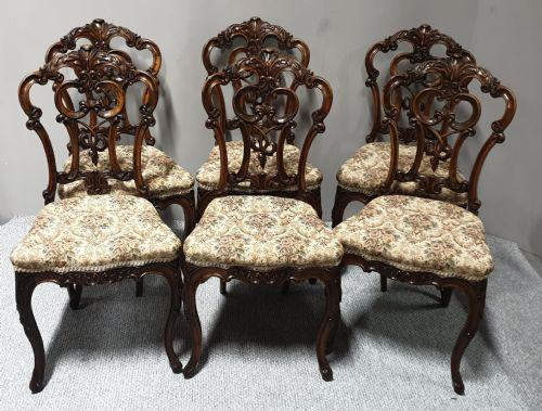 Set of  Victorian Walnut Dining Chairs (1 of 8)