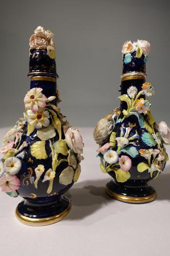 Most Attractive Pair of Late 19th Century Coalbrookdale Perfume Bottles (1 of 6)