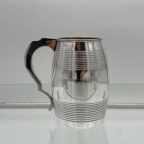 Antique George III Sterling Silver Pint Mug London 1815 William Stroud (1 of 7)
