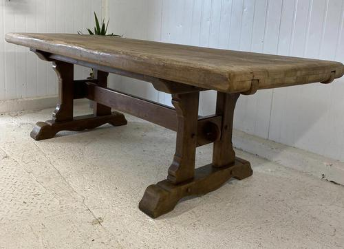 Large French Oak Farmhouse Refectory Dining Table (1 of 10)