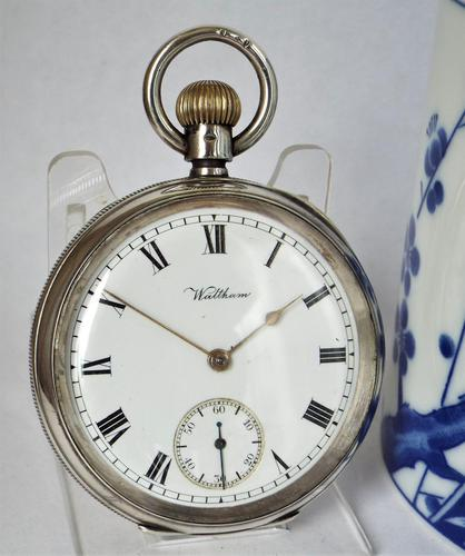 Antique silver Waltham pocket watch, 1903 (1 of 5)