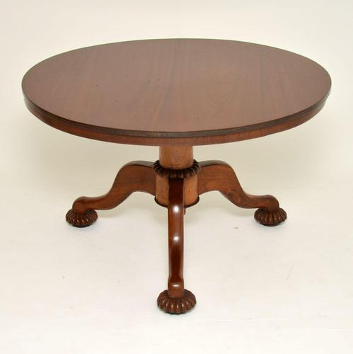 Antique William IV Mahogany Tilt Top Dining Table (1 of 16)